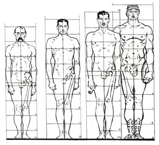рисуем человека в полный рост: