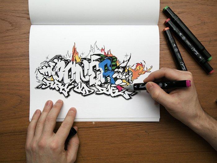 картинки для начинающих граффити
