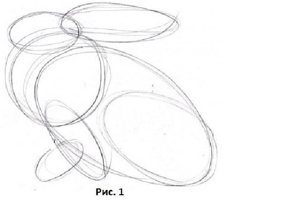 Как нарисовать зайца.