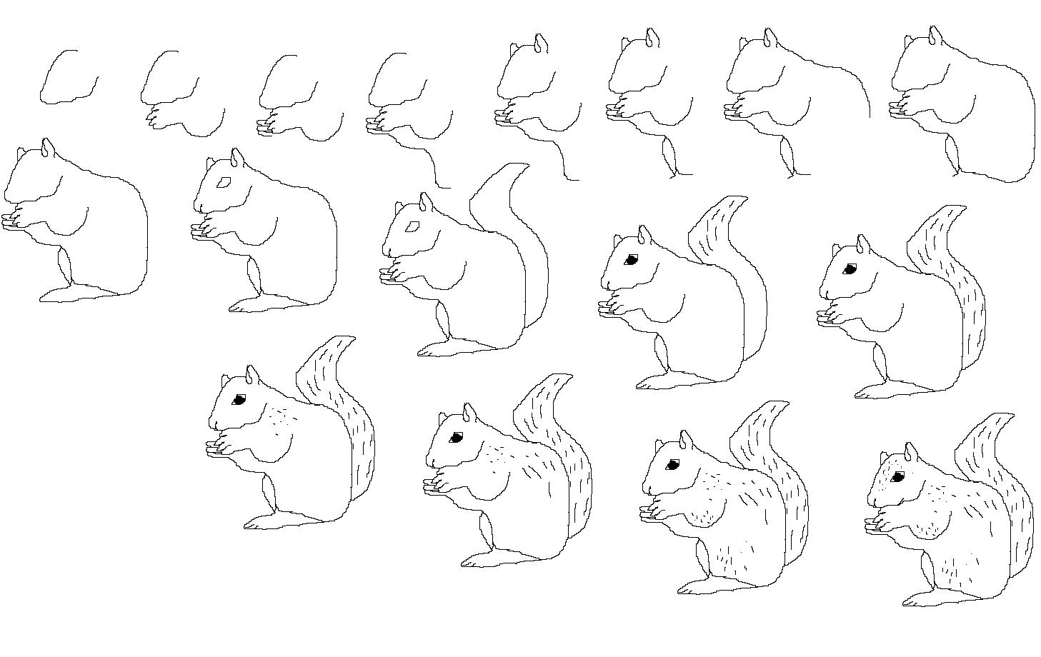 как рисуется животные картинки