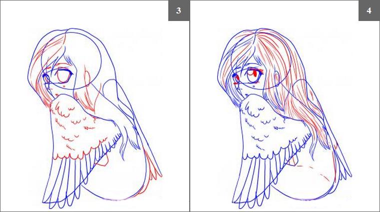 Рисовать ангела хранителя