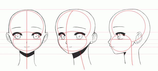 как рисовать аниме лицо картинки: