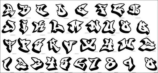 Как нарисовать граффити на бумаге