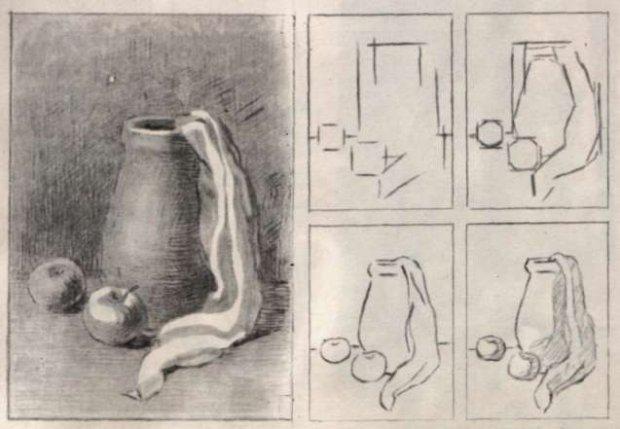 Как нарисовать натюрморт