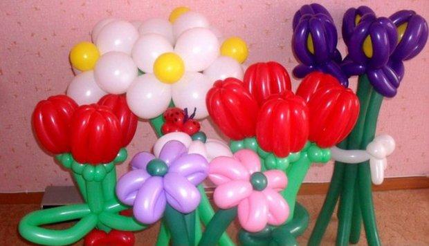 Как из шариков сделать цветок из круглых шариков своими руками фото 891