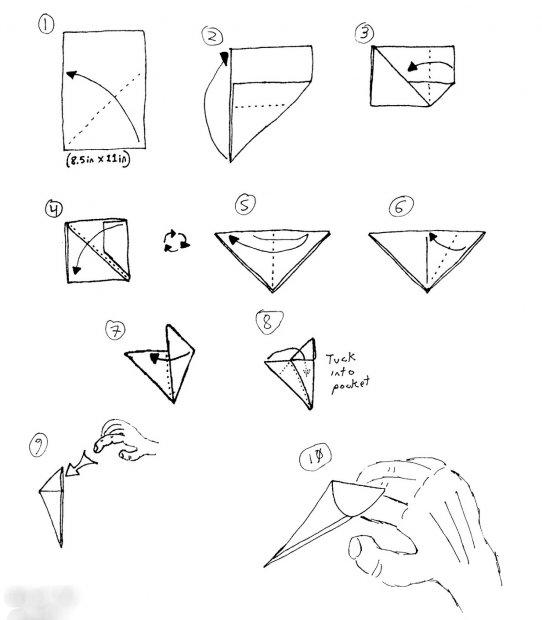 Как делать из бумаги когти