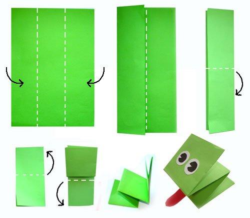 Как делать из бумаги лягушку