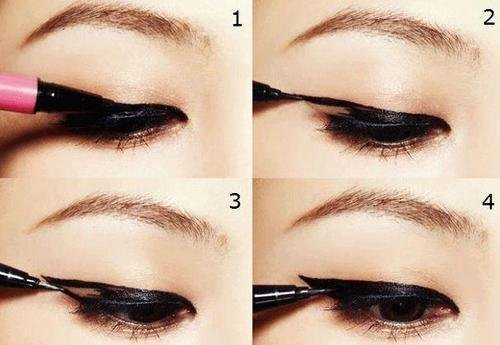 Как правильно рисовать стрелки на глазах (фото пошагово)