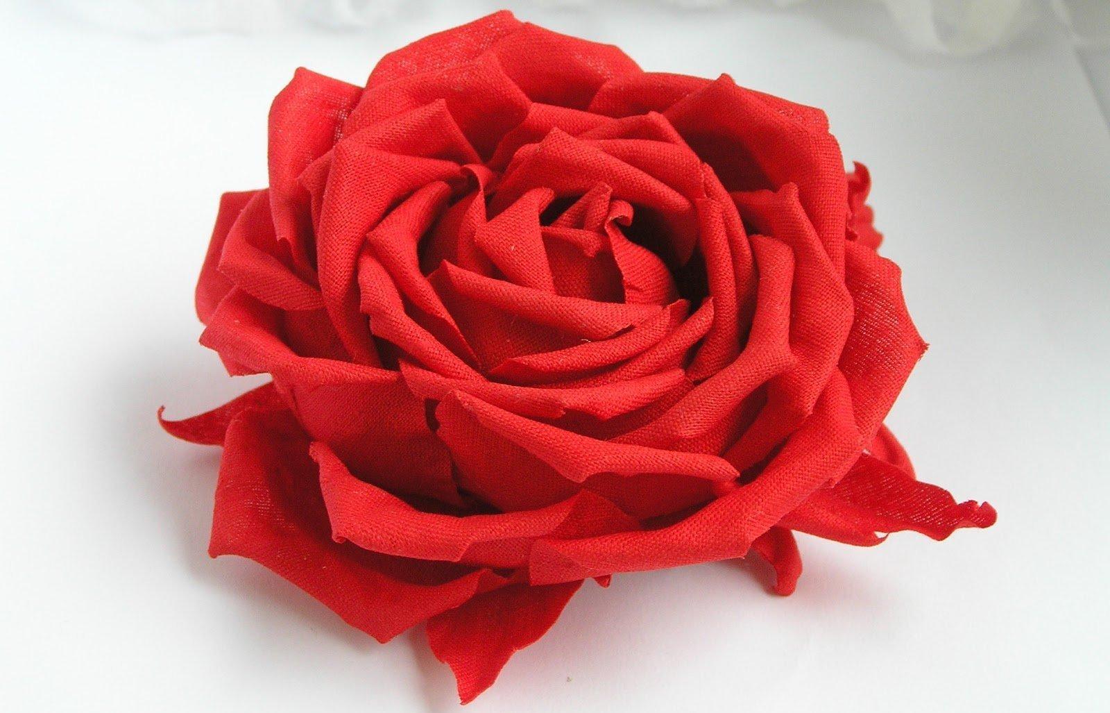Цветы из ткани своими руками для