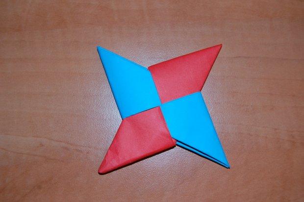 Как делать из бумаги сюрикен