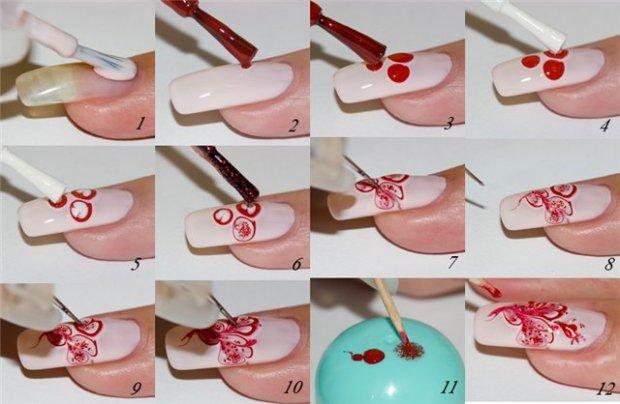 Как рисовать на ногтях в домашних условиях